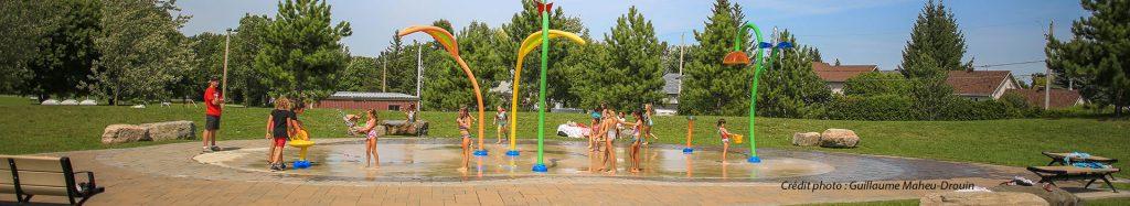 Jeux d'eau parc Desforges