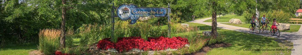 Enseigne Coteau-du-Lac piste cyclable